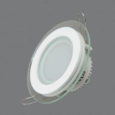 705R-6W-6000K Светильник встраиваемый,круглый,со стеклом,LED,6W